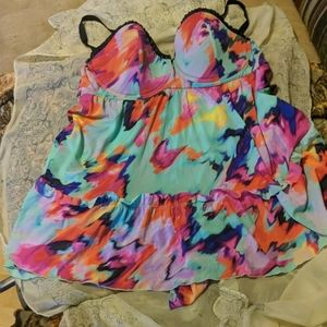 Smart and Sexy nightgown size 40D multi colored